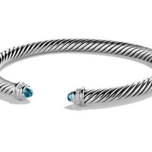 David Yurman Jewelry - David Yurman Sterling Silver Diamond Bracelet